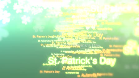 patrik : Green hue animated streaks with random St. Patricks Day text forming.  For use as is or as a background or design element where placement of copy is needed.