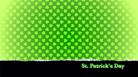 patrik : St. Patricks animated clovers against a green background. For use as a general backdrop, design element or as an overlay for placement of text or other copy.