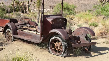 apodrecendo : An old, antique car rotting in the hot desert of Joshua Tree shows the unique characteristics that the elements have on vulnerable objects.