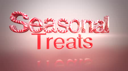 градиент : A pink and white animated holiday clip with seasonal treat text for use as Christmas messaging Стоковые видеозаписи