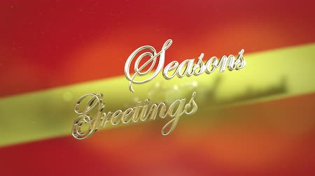 czerwone tło : Classic seasons greetings holiday for use to send a happy message to any audience