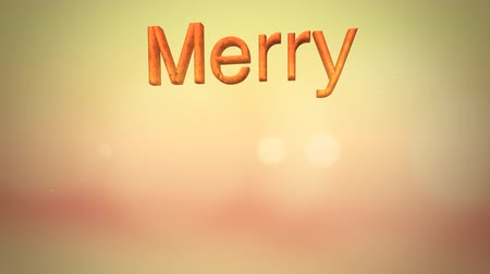 díszítés : Mery Christmas text forming on a gold defocused subtle backgrounf for use as a seasonal messaging clip
