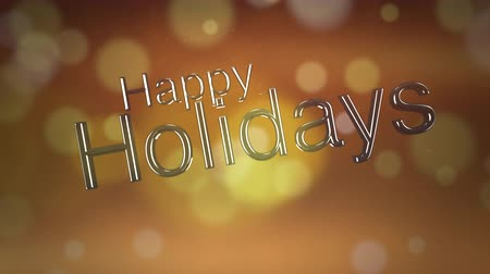sutil : Happy holidays text forming on gold bokeh background for use as a seasonal messaging clip Vídeos