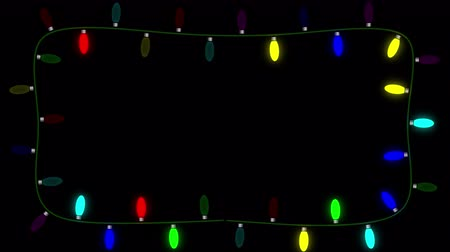 áttekinthetőség : Blinking Christmas lights on an alpha channel allow the user to place the lights on any background they choose. Lights are set up to act as a frame and user can choose to place copy on the clip or overlay it on another background. Stock mozgókép