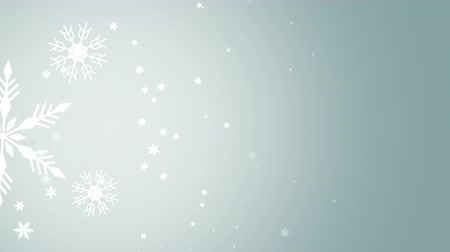 sniezynka : Winter snowflakes falling slowly down a gray gradient background