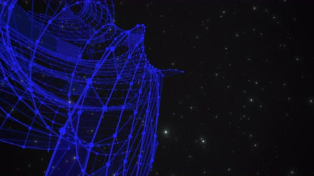 conectado : Blue abstract vortex forms a spiral pattern against a background in outer space Stock Footage