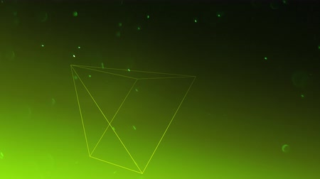 pyramida : A floating three-dimensional pyramid rotates against a green background as dust particles move throughout the animation Dostupné videozáznamy