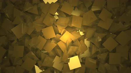 pyramida : Three-dimensional triangular reflective block shapes toned in a subtle gold hue. Good for a background design element, computer wallpaper or screen saver.
