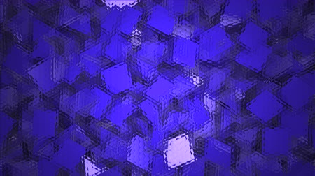 um objeto : Three-dimensional triangular reflective block shapes toned in a deep blue hue. Good for a background design element, computer wallpaper or screen saver.