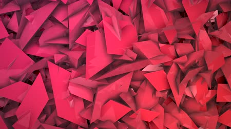 yansıma : Three-dimensional random reflective block shapes toned in a subtle red hue. Good for a background design element, computer wallpaper or screen saver.