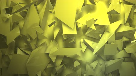 broken glass : Three-dimensional random reflective block shapes toned in a subtle yellow hue. Good for a background design element, computer wallpaper or screen saver.