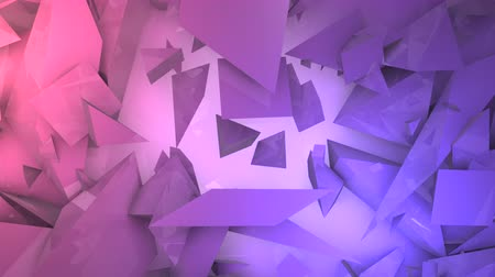 broken glass : Three-dimensional random reflective block shapes toned in subtle a pink color. Good for a background design element, computer wallpaper or screen saver.