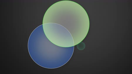 átfedés : An animated Venn diagram slowly populates and shows the probability formulas for event intersection at each juncture of a graphic ring