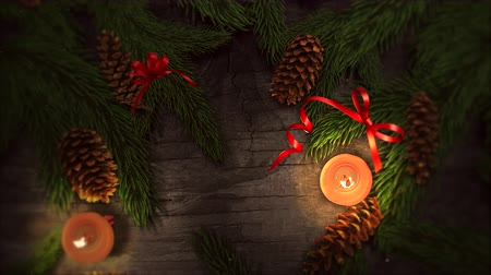 prkna : An animated Christmas background with candlelight subtly zooming provides a festive element to holiday messaging and even as a design element where theres plenty of space for copy in advertising seasonal marketing.