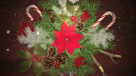 Animated Christmas wreath zooms slowly out while light snow falls. Great for use as is to celebrate the holidays or clip can be used with placement of copy for marketing and messaging. Stok Video
