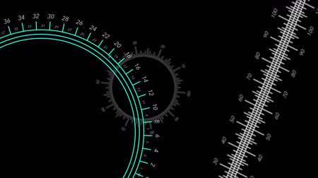 Animated circular and straight rulers move against a green gradient background.