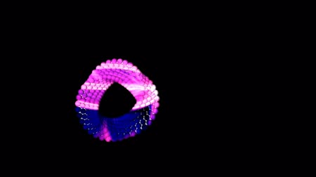 Abstract 3d Ring Animation design looping transparent background alpha channel