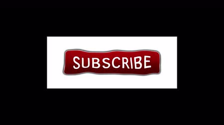 Subscribe button animation pop up. Transparent background and alpha channel