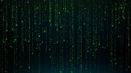 Abstract background animation falling light particles as matrix style