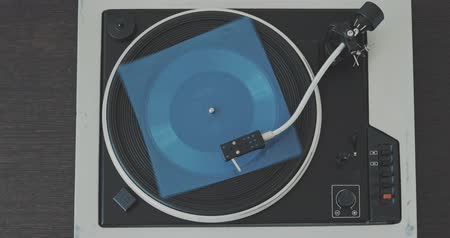 gramophone : Loop Vintage Vinyl Turntable Record Player From Top