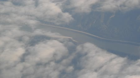 duše : Flying Over River Valley with Clouds
