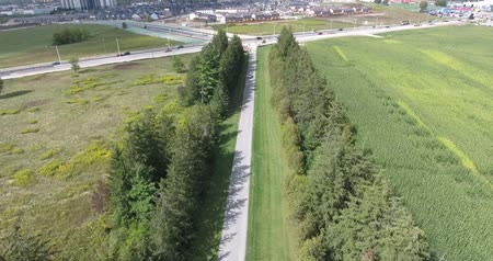 cima : Long Driveway Flyover Farmhouse Archivo de Video