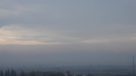 altostratus : Timelapse Clouds and Landscape at Dawn with Slight Foggy Mist