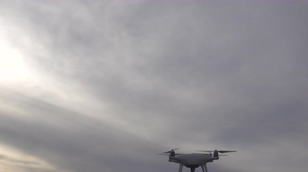 stable fly : 4K Drone Moving Around And Hovering In Sky