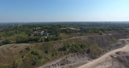 marmer : Aerial Gravel Pit Rotation 90 Graden Stockvideo
