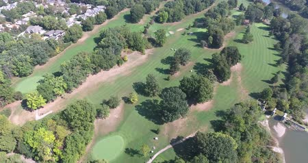 тройник : Golf Course Fly Over With Lots Of Trees