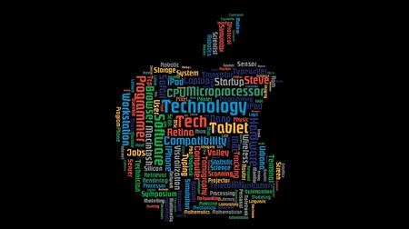 intel : Apple Macintosh Computer Word Cloud Animation Black Background