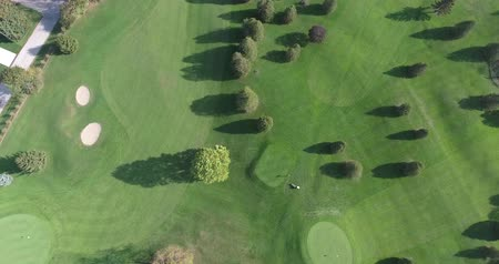 тройник : Golf Green With Clubs Aerial Panoramic 1