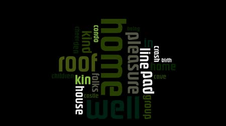 karikatura : Home And Family Green Text On Black Background Word Cloud 2 Dostupné videozáznamy