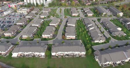 magasság : New Suburbs Subdivision Aerial With Traffic Cars In Distance Closeup