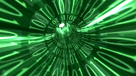 kezdődik : Green Matrix Text Wormhole Time Warp Animation 2