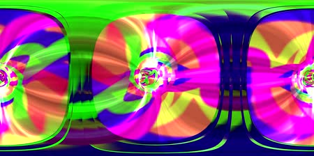 erkeklere özel : Tie Dye Rainbow Multi Color Pyschedelic Time Warp Loop VR 360 4K Stok Video