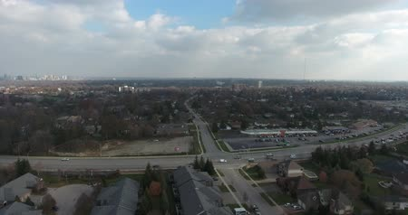locatie : Traffic Junction Aerial View Drone Shot 4K