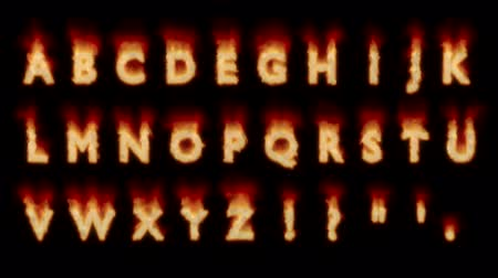 elferdítés : 30 Seconds Fire Without Text Letter Inside Alphabet