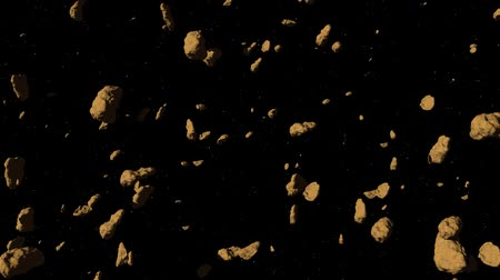 starry sky : Asteroid Field Fly Through Stock Footage
