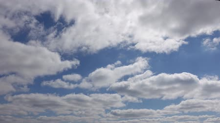 altostratus : Bright White Fluffy Clouds In Sky Timelapse 4K Stock Footage