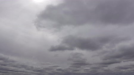 altostratus : Fast Moving Gray Silver Clouds With Sunrays 4K