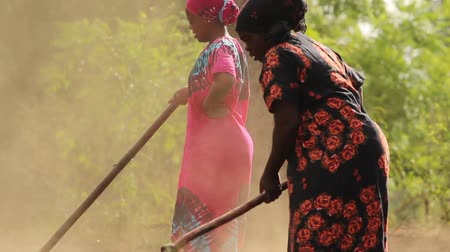 afrika : African ladies manually working the land Dostupné videozáznamy