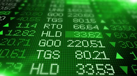 besi : Stock Exchange Market Data Board - Green