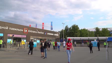 conversa : 17 June 2018. Russia. Moscow. Day. Entrance to the Luzhniki stadium during the match Germany-Mexico.