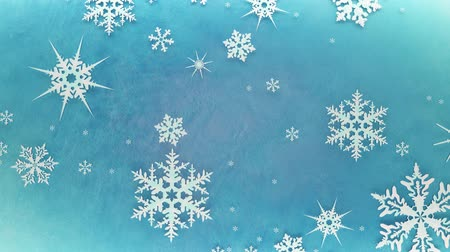 Snowflakes are spinning and forming a circle on the icy rotating surface Vídeos