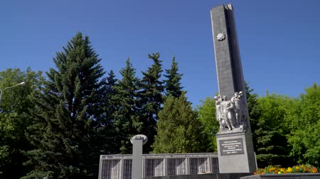 11 June 2018. Russia. The City Of Domodedovo. Day. Obelisk of Glory to soldiers-Domodedovo soldiers who died during the World War two