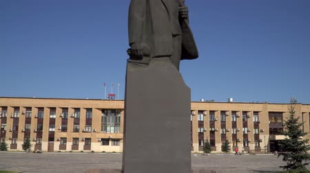 socialism : 11 June 2018. Russia. The City Of Domodedovo. Day. Lenin monument in the Central city square.