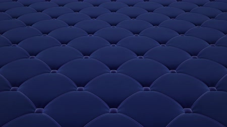 3D animation of flying a blue quilted velvet surface with light blue drawstrings. Looped video. Vídeos