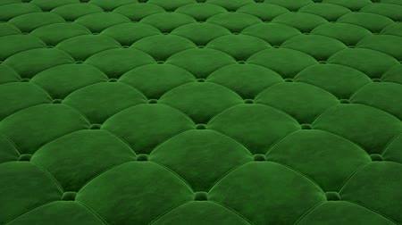 3D animation of the flight over a green quilted velvet surface. Looped video. Vídeos