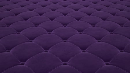baluchon : 3D animation of the flight over a purple quilted velvet surface. Looped video.
